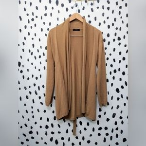 Zara knit tan open front cardigan